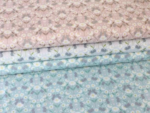Baumwolle Stoff - Mirrowed Mice - verschiedene Farben