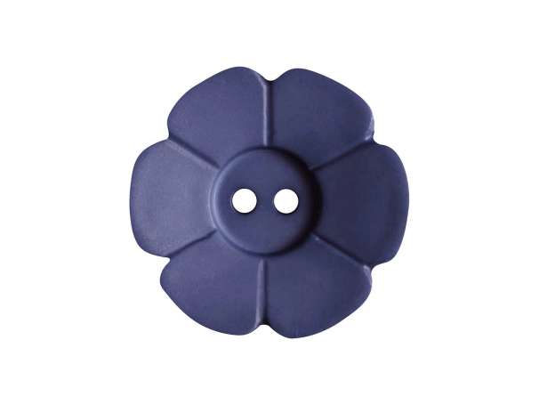 Knopf Blümchen 15mm - blau