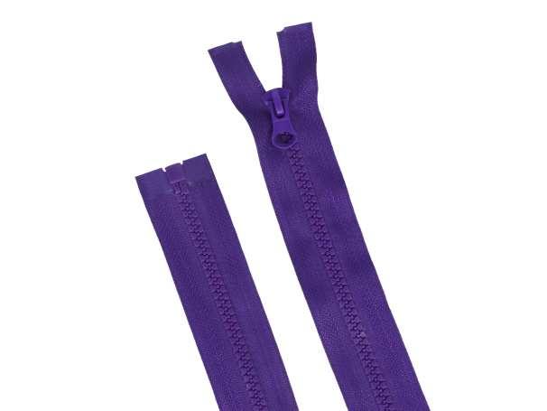 Teilbarer Reißverschluss - 75 cm - dunkellila
