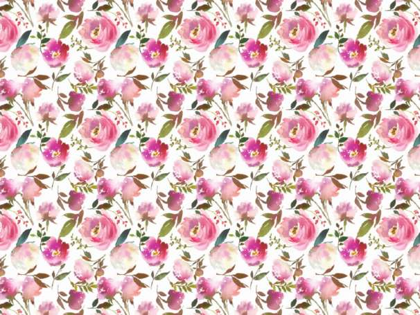 Modal Jersey - Watercolor Rosegarden