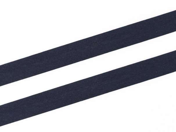 Schrägband Baumwolle - 20 mm - marine