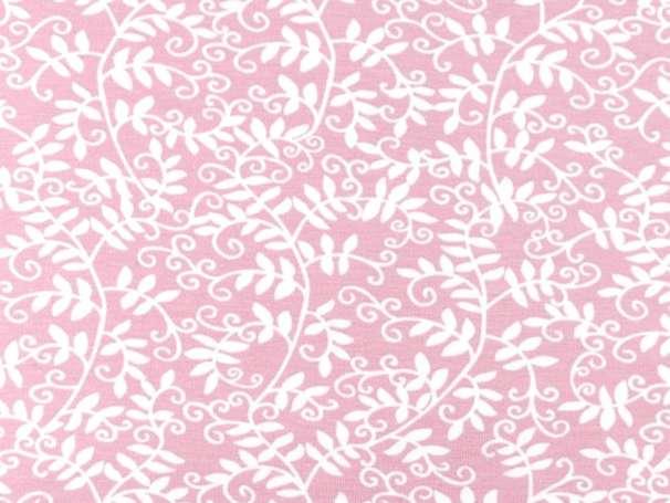 Jersey Stoff - Blätterranken - rosa