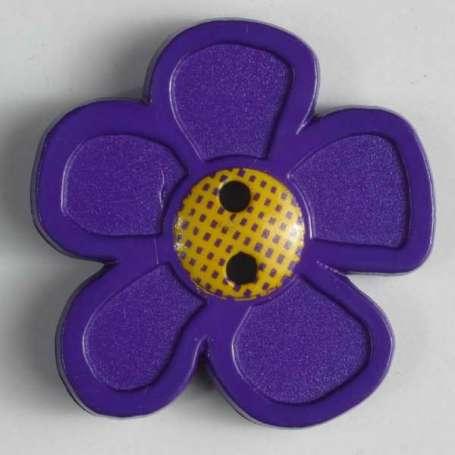 Knopf Blume 20mm - lila