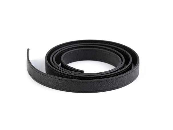 2 Kunstleder Taschenhenkel Rohlinge - 15mm - schwarz