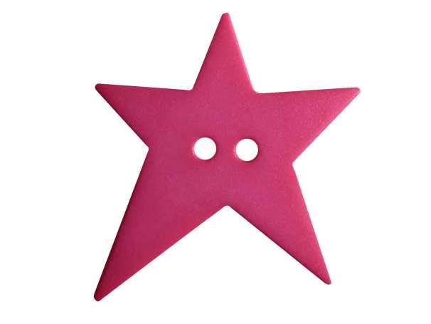 Knopf Stern 28mm - pink