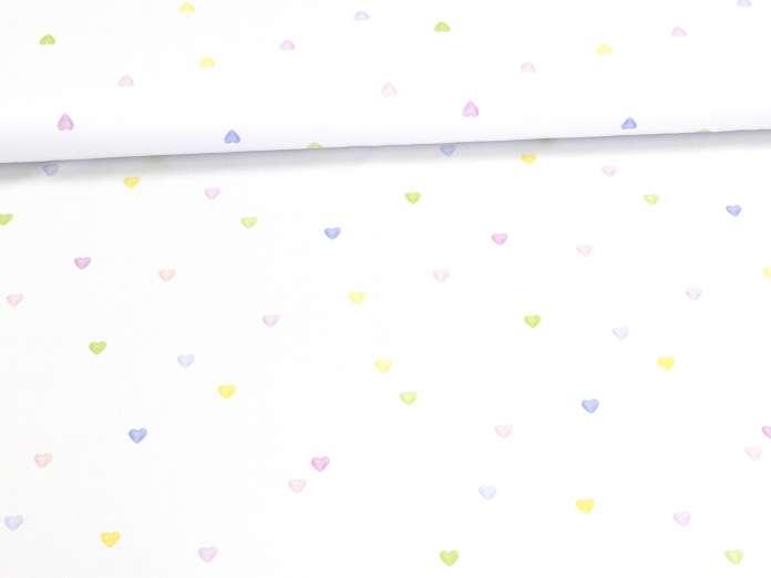 Jersey Stoff - Lovely Hearts - klein