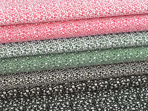 Jersey Stoff - Animal Print, verschiedene Farben