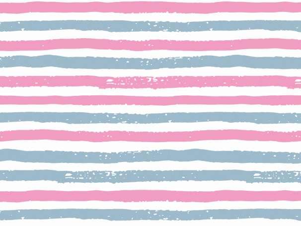 Jersey Stoff - Schiffe & Palmen - Streifen pink/blau