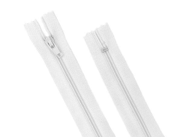 Reißverschluss - 35 cm - weiß