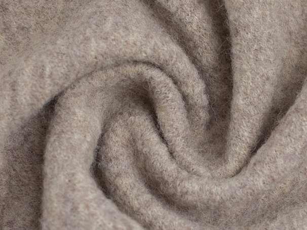 Wollstoff - Walk - beige melange