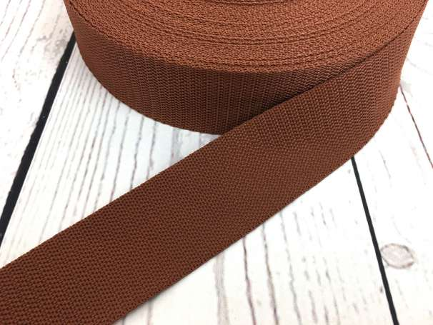 Gurtband - 40mm - braun