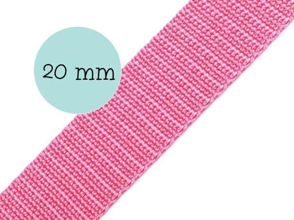 Gurtband - 20mm - rosa