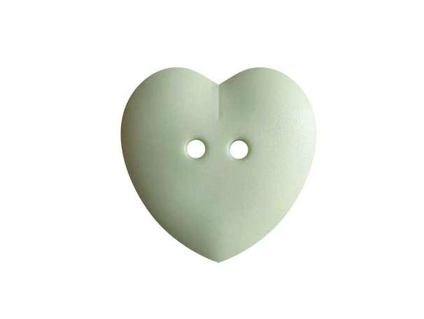 Knopf Herz 15mm - maigrün