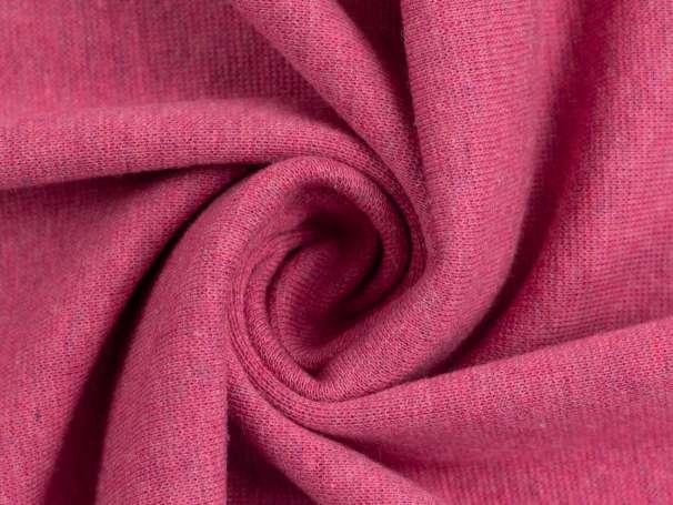 Bündchenstoff - pink meliert