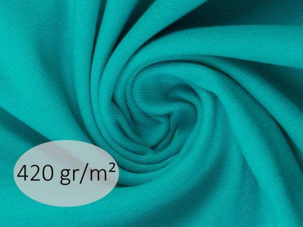 Bündchenstoff - ANTJE 420 gr. - aqua