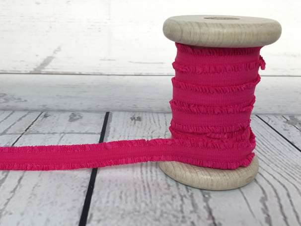 Rüschen - Gummiband - pink