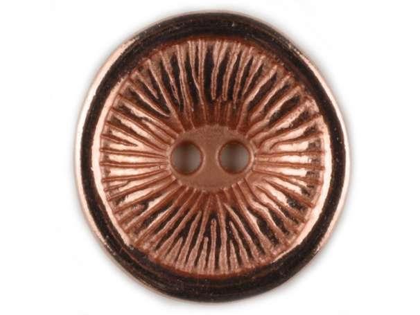 Vollmetallknopf 23mm - hell kupfer
