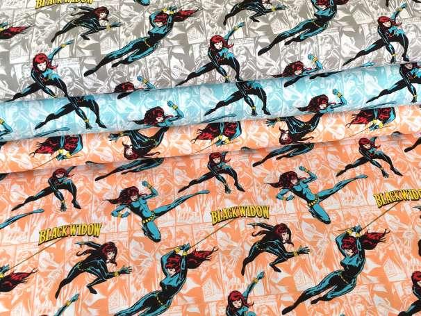 Baumwolle Stoff - Black Widow - verschiedene Farben