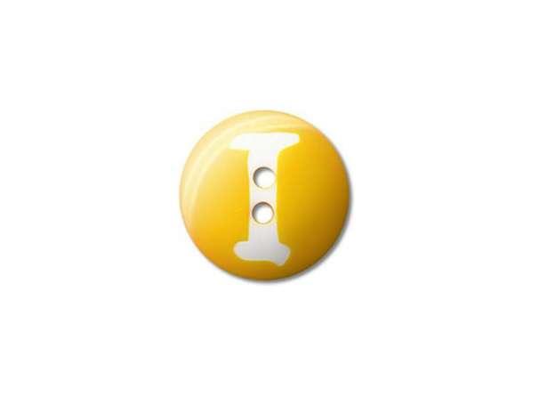 Buchstaben Knopf - Ø 15 mm - I