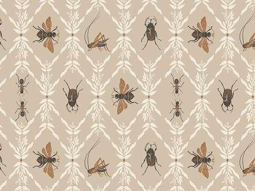 Baumwolle Stoff - Lambkin - Little Entomologist