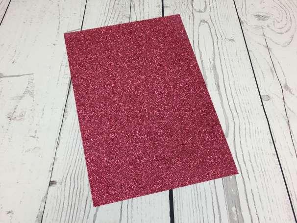 Glitzer Plotterfolie - DIN A4 - pink