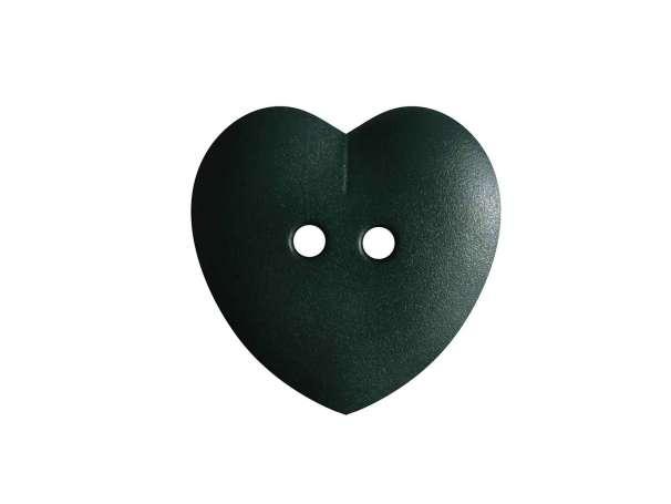 Knopf Herz 15mm - dunkelgrün