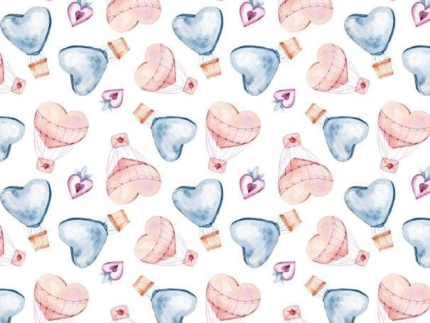 Jersey Stoff - Herz Heißluftballon