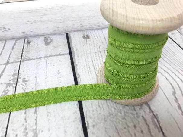 Rüschen - Gummiband - apfelgrün