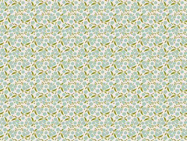 Baumwolle Stoff - Forget Me Not Teal