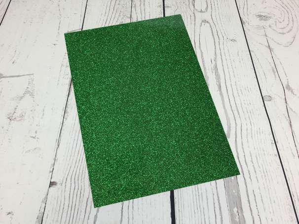 Glitzer Plotterfolie - DIN A4 - grün