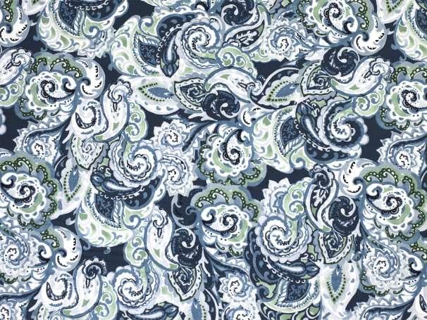 Baumwolle Stoff - Ring a Roses - Paisley, dunkelblau-blau
