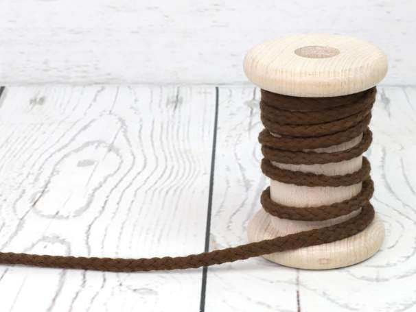Kordel Baumwolle - 5 mm - braun
