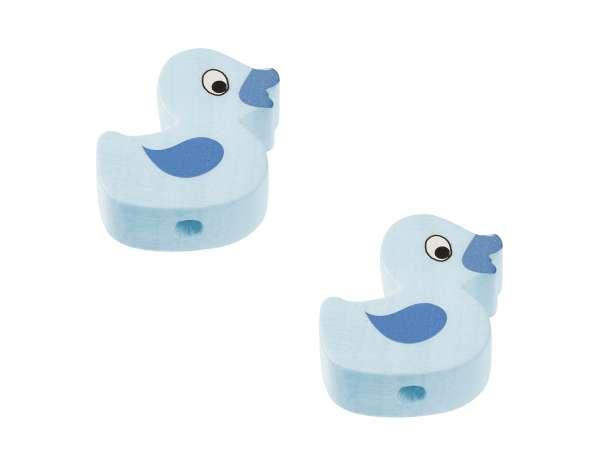 Schnulli-Ente-Perlen - 2 Stück - hellblau