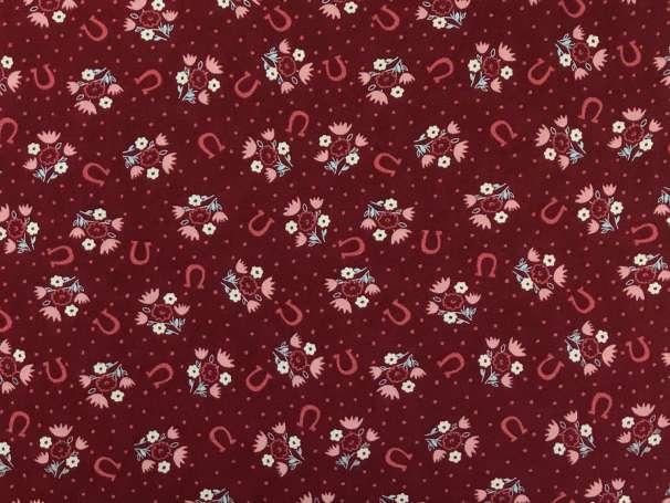 Baumwolle Stoff - Berry Horseshoe Dreams
