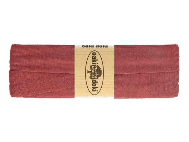 3m Jersey Schrägband - Viskose - 014 altbeere