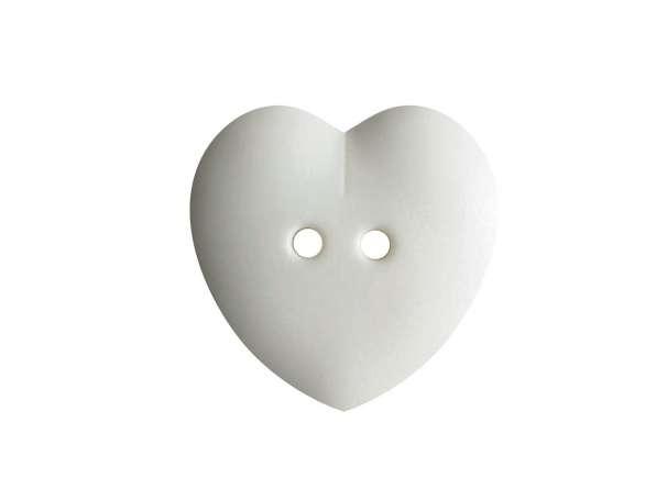Knopf Herz 15mm - wollweiß