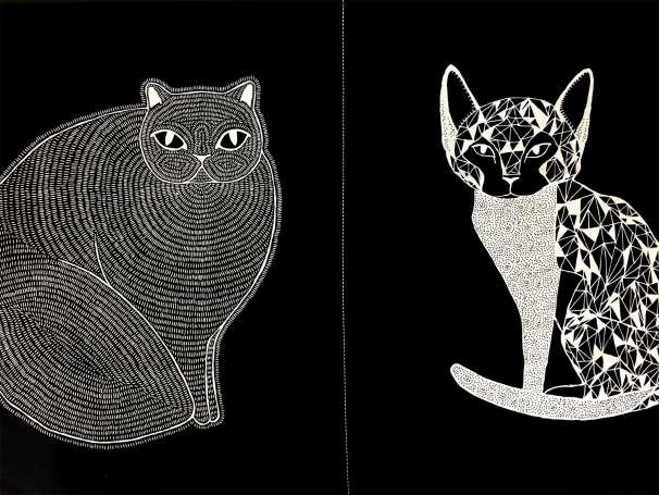 Baumwolle Stoff - Catnip PANEL - Cats