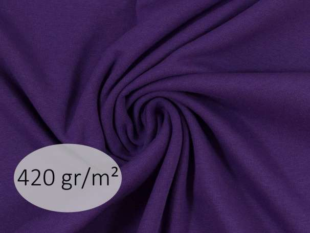 Bündchenstoff - ANTJE 420 gr. - dunkellila