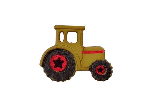 Knopf 23 mm - Traktor - oliv