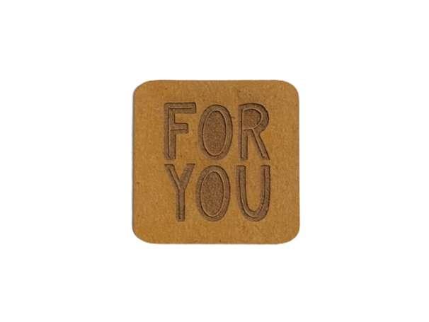 SnaPpap Label - Quadrat - FOR YOU