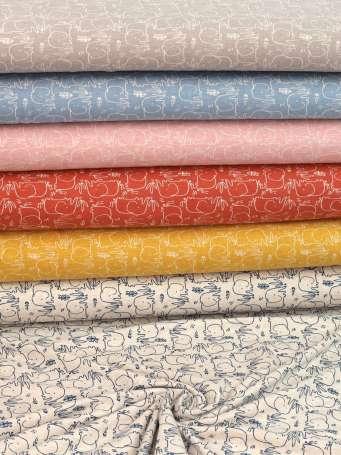 Jersey Stoff Benno - Elefant - Farben