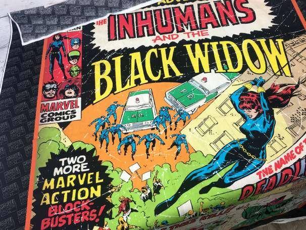 Baumwolle Stoff - PANEL - Black Widow