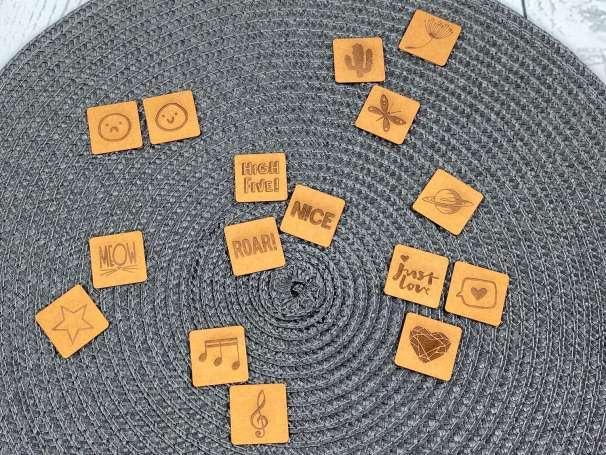 SnaPpap Label - Quadrat - Verschiedene Designs