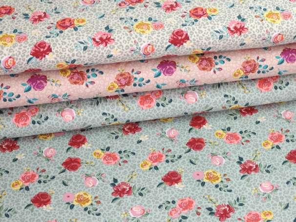 Jersey Stoff - Blumen & Leo - verschiedene Farben