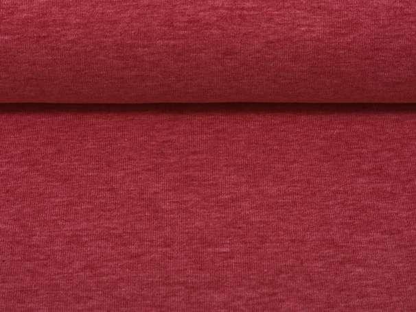 Uni Jersey - Vanessa - burgundy meliert