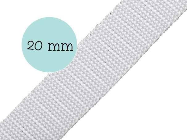 Gurtband - 20mm - weiß