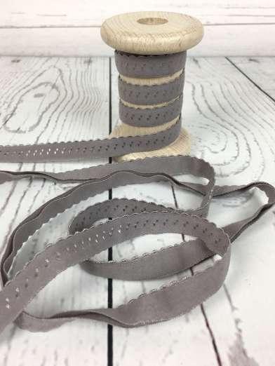 Elastisches Einfassband - grau