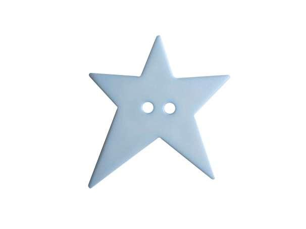 Knopf Stern 15mm - hellblau