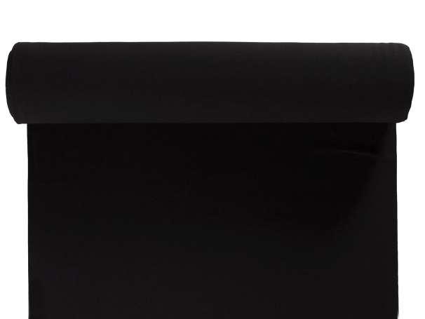 Bündchenstoff, extra breit - schwarz