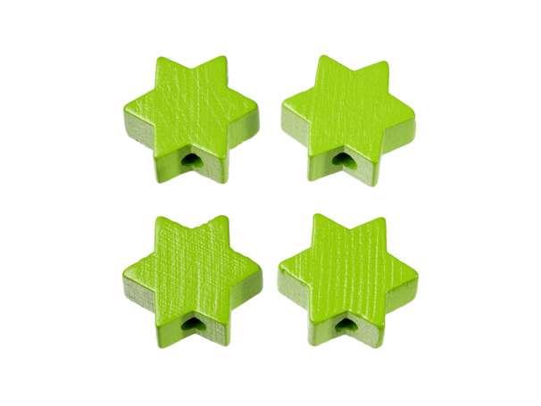 Schnulli-Stern-Perlen - 4 Stück - apfelgrün